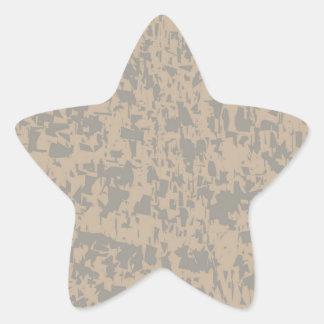 Efectの大理石のグランジな背景 星形シール・ステッカー
