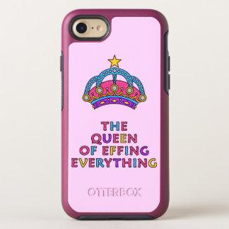 Effingの女王すべてピンクのグリッター オッターボックスシンメトリーiPhone 8/7 ケース