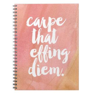 Effing Diem |が上がったことCarpe ノートブック