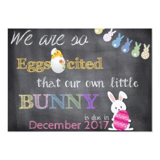 Eggscitedイースターの妊娠は発表を明らかにします カード