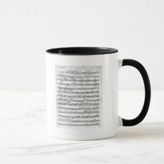 「Egmontへの申し入れのための楽譜 マグカップ