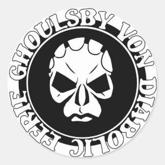 EGVDの顔のロゴ ラウンドシール