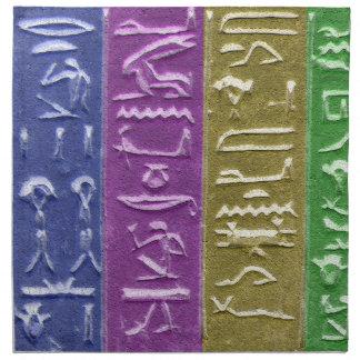 Egyptainのカラフルな象形文字のナプキン ナプキンクロス