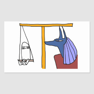 Egyptian God  MEDJED and Anubis book of the dead 長方形シール