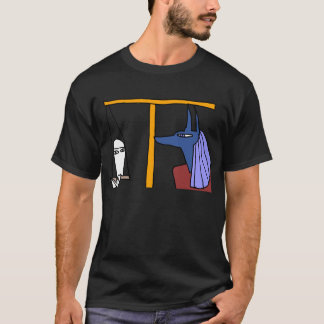 Egyptian God  MEDJED and Anubis book of the dead Tシャツ