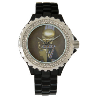 Egyptian_Princess_Ladies_Black_Sparkle_Watch 腕時計
