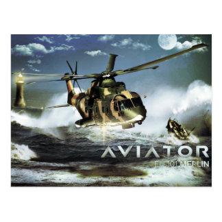 EH 101マーリンのヘリコプター ポストカード
