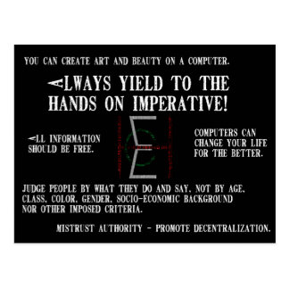 EHC Mariomattのハッカーの倫理的なマウスパッドそれは重要です ポストカード