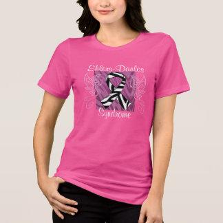 Ehlers-Danlosのリボンのティー-ピンク Tシャツ