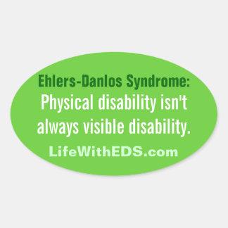 Ehlers-Danlosシンドロームの (EDS)ステッカー 楕円形シール