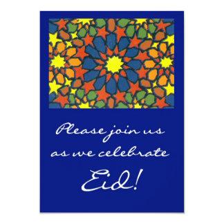 Eidのお祝いの招待状-伝統的なデザイン 12.7 X 17.8 インビテーションカード