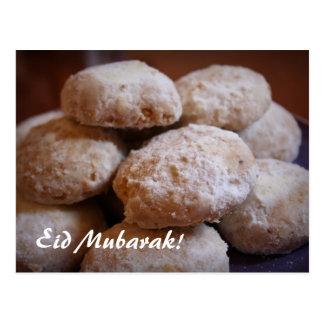 Eidのクッキーの郵便はがき ポストカード