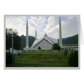Eidの挨拶のfaisalモスク1のカード グリーティングカード
