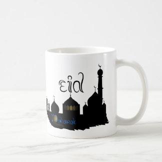 Eidムバラクのモスクのシルエット-マグ コーヒーマグカップ