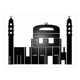 Eidムバラクのモスクのデザイン ポストカード