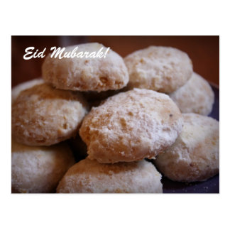 Eidムバラク! Eidのクッキーの郵便はがき ポストカード