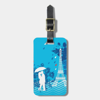 Eiffleタワーが付いているパリのカップル ネームタグ