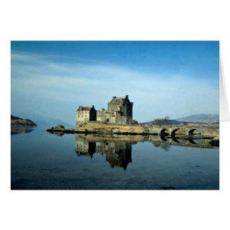 Eileen Donanの城、Lochalsh、スコットランドのKyle カード