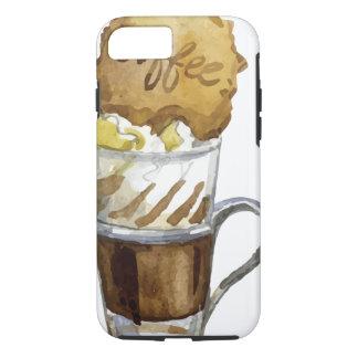 Eiskaffeeは堅いコーヒー飲み物のiPhone 7の箱を-凍らしました iPhone 8/7ケース