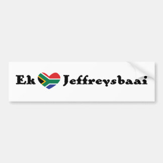 Ekの*Heart* Jeffreysbaai (Iの*Heart*のJeffreyの湾) バンパーステッカー