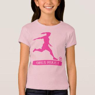 EKLEKTIXによる女の子の規則のサッカーのワイシャツ Tシャツ