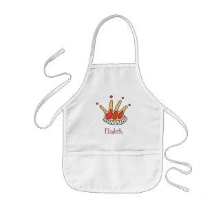 ekosの王女の王冠はエプロンをからかいます 子供用エプロン
