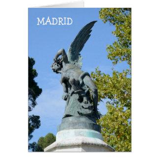 Elの天使CaidoのRetiro公園、マドリード カード