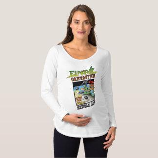 ElのNopalのCantavivoの妊婦のな長袖のTシャツ マタニティTシャツ