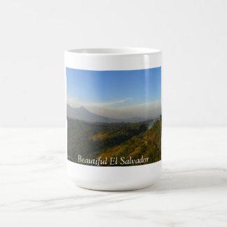 Elサルバドルサンサルバドルの火山 コーヒーマグカップ