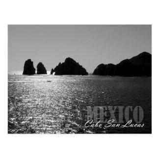 El Arco de Cabo San Lucasのシルエット ポストカード