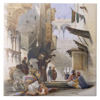 El Azhar、壮大なカイロのパブに導く通り。 1846年 タイル