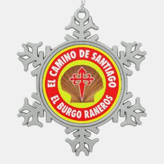 El Burgo Raneros スノーフレークピューターオーナメント
