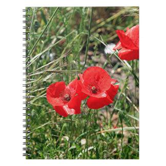 El Caminoの赤いケシ ノートブック