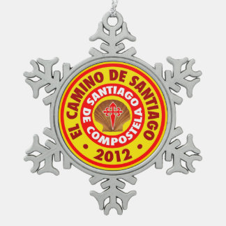 El Camino Deサンティアゴ2012年 スノーフレークピューターオーナメント