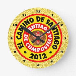 El Camino Deサンティアゴ2012年 ラウンド壁時計
