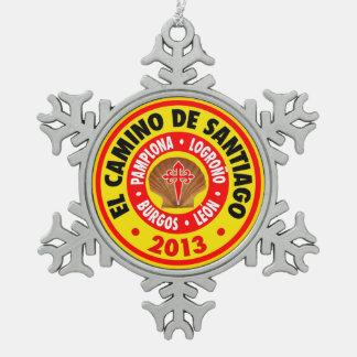 El Camino Deサンティアゴ2013年 スノーフレークピューターオーナメント