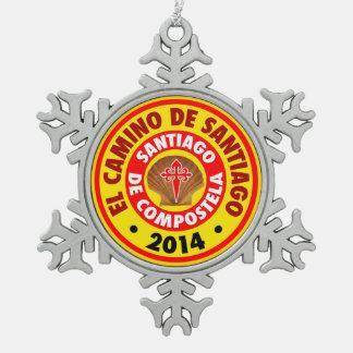 El Camino Deサンティアゴ2014年 スノーフレークピューターオーナメント