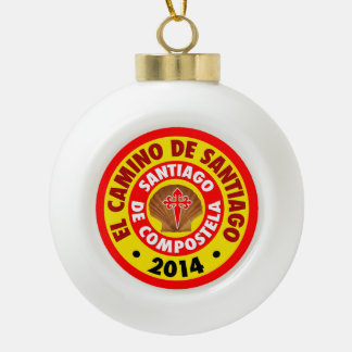 El Camino Deサンティアゴ2014年 セラミックボールオーナメント