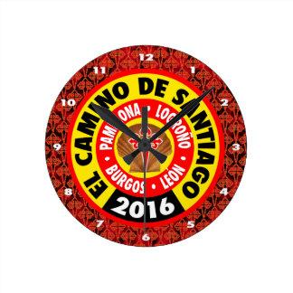 El Camino deサンティアゴ2016年 ラウンド壁時計