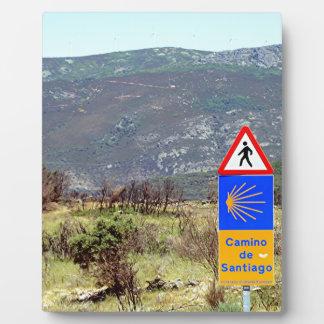 El Camino deサンティアゴ・デ・コンポステーラの印、スペイン フォトプラーク