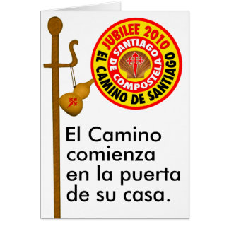 El Camino deサンティアゴ・デ・コンポステーラ カード