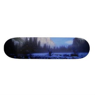El Capitan山、ヨセミテ国立公園、 オリジナルスケートボード