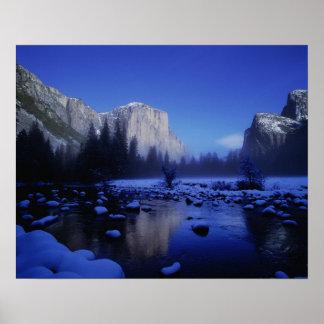 El Capitan山、ヨセミテ国立公園、 ポスター