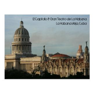El Capitolio及びGran Teatro、ハバナ、キューバ ポストカード
