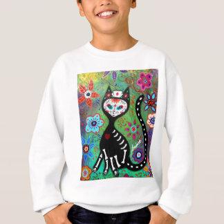 EL GATO CAT DIA DE LOS MUERTOS NURSEの絵画 スウェットシャツ