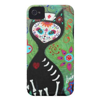 EL GATO CAT DIA DE LOS MUERTOS NURSEの絵画 iPhone 4 Case-Mate ケース