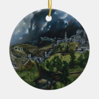 El Grecoによるトレドの眺め セラミックオーナメント