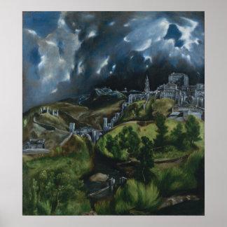 El Grecoによるトレドの眺め ポスター