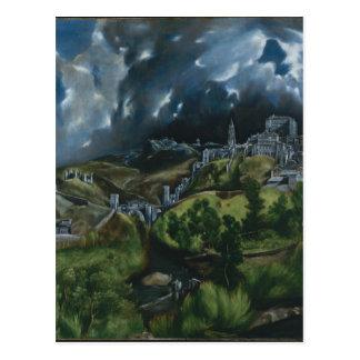 El Grecoによるトレドの眺め ポストカード