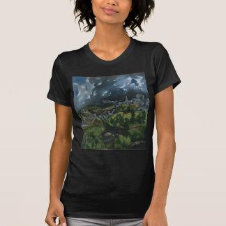 El Grecoによるトレドの眺め Tシャツ